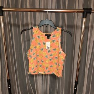 Forever 21 pineapple crop top size 2x